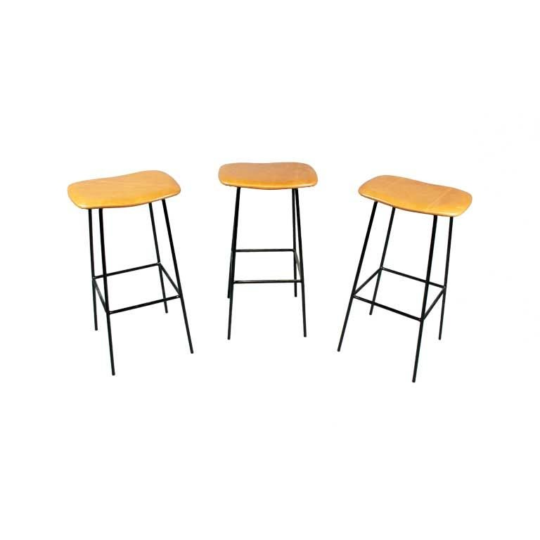 Set of 3 caramel leather and iron bar stools at 1stdibs : XXX888512886614201768 from www.1stdibs.com size 768 x 768 jpeg 20kB