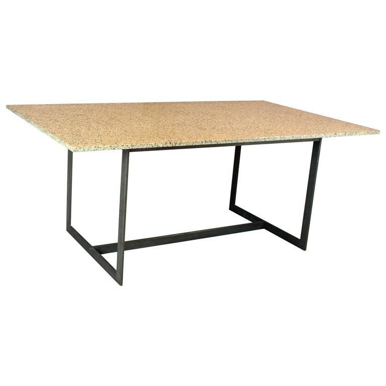 Bronze flatbar and granite top dining table at 1stdibs : XXX88851294703423 from www.1stdibs.com size 768 x 768 jpeg 28kB