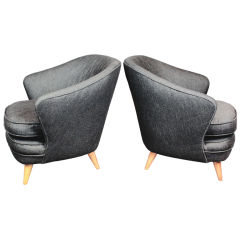 Pair of Shell Shaped Armchairs by Joaquim Tenreiro