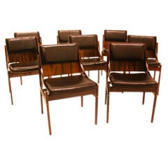 10 Rosewood dining chairs by Jorge Zalszupin for L'Atelier