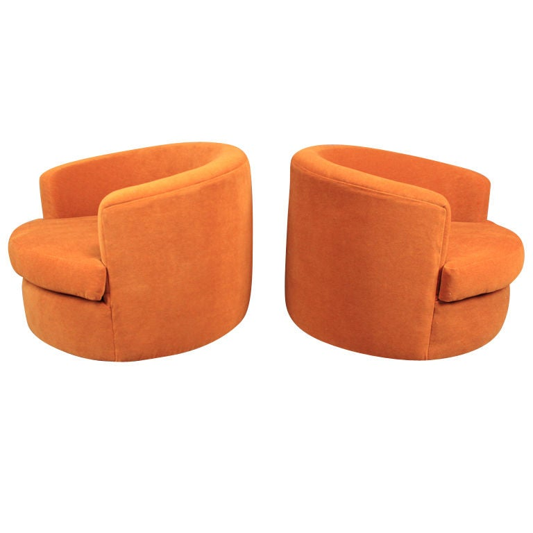 Orange swivel chair retro chair design ideas for Chair design retro