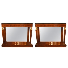 Elegant Near-Pair of French Empire Pier Tables