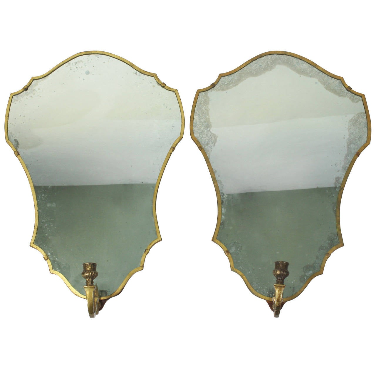 Venetian Wall Sconces : Pair of Venetian Mirror Sconces at 1stdibs