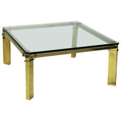 Gucci Brass and Glass Cocktail Table
