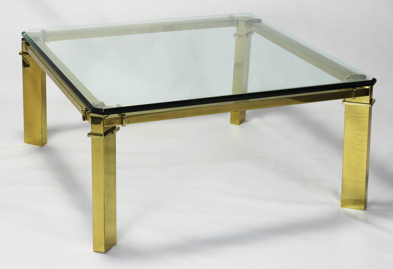 Gucci Brass And Glass Cocktail Table At Stdibs - Gucci coffee table