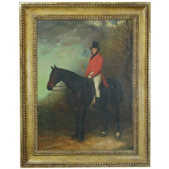 Portrait of a Sporting Squire on Horseback