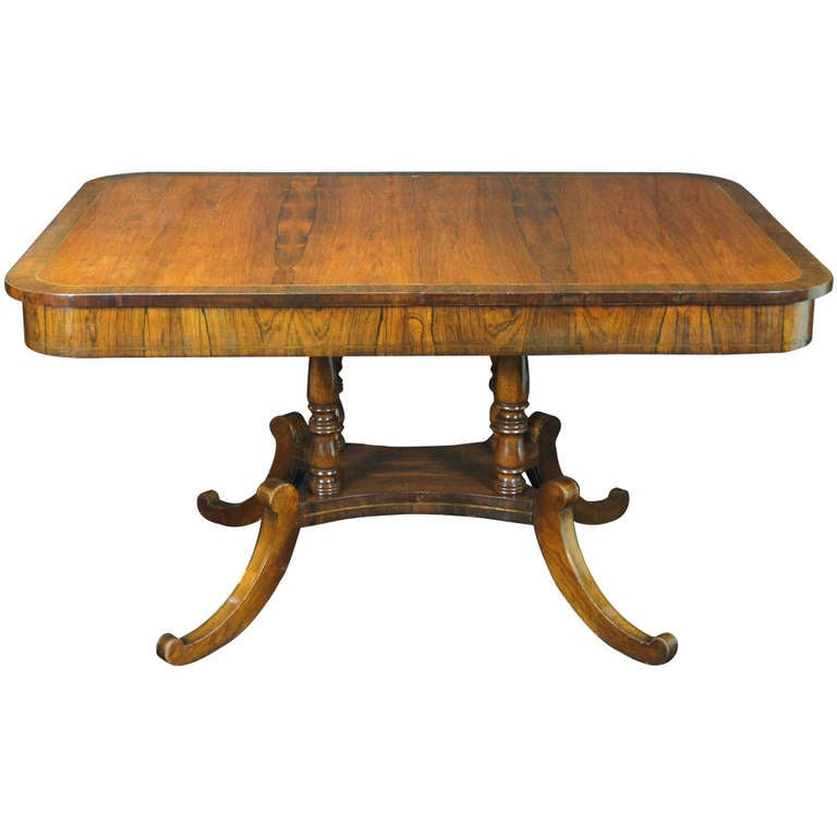 Regency Style Rosewood Dining Library Table At 1stdibs