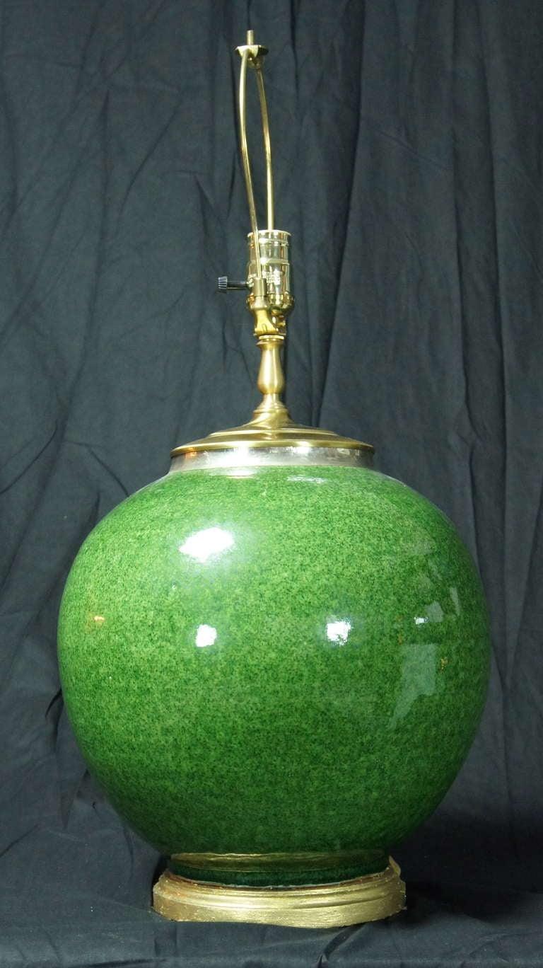 Large Hand Thrown Ceramic Lamp At 1stdibs