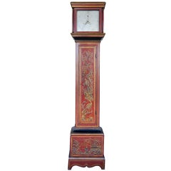 Tall Case Chinoiserie Decorated London Regulator Clock