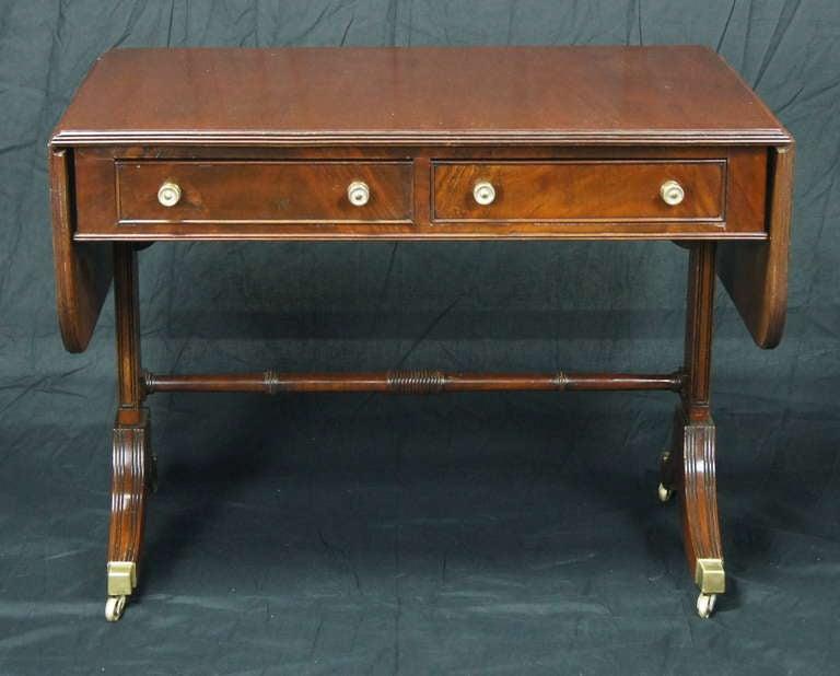 Regency Style Mahogany Sofa Table 2