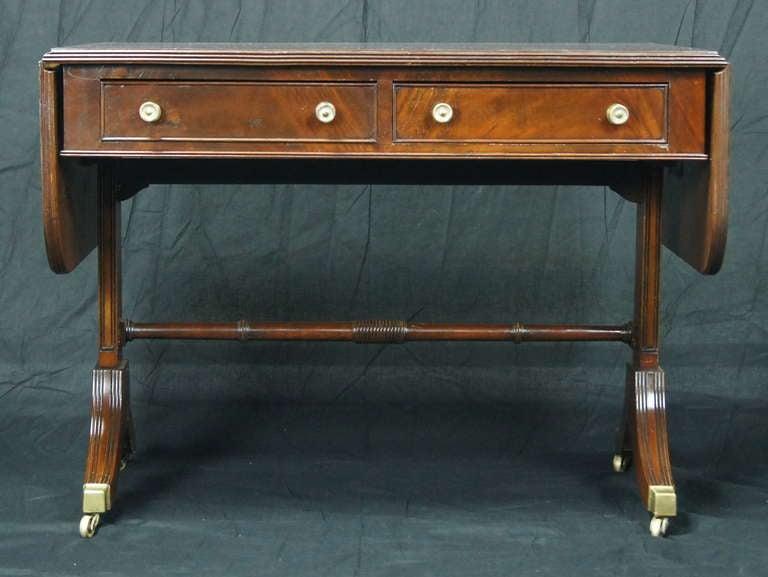 Regency Style Mahogany Sofa Table 3