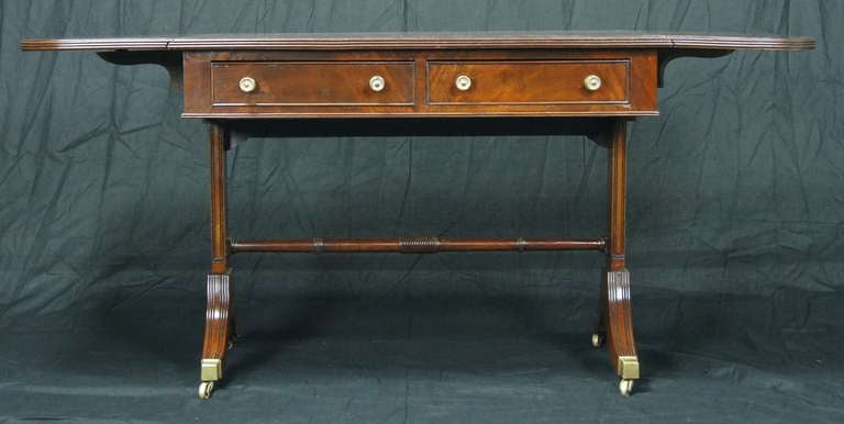 Regency Style Mahogany Sofa Table For Sale at 1stdibs