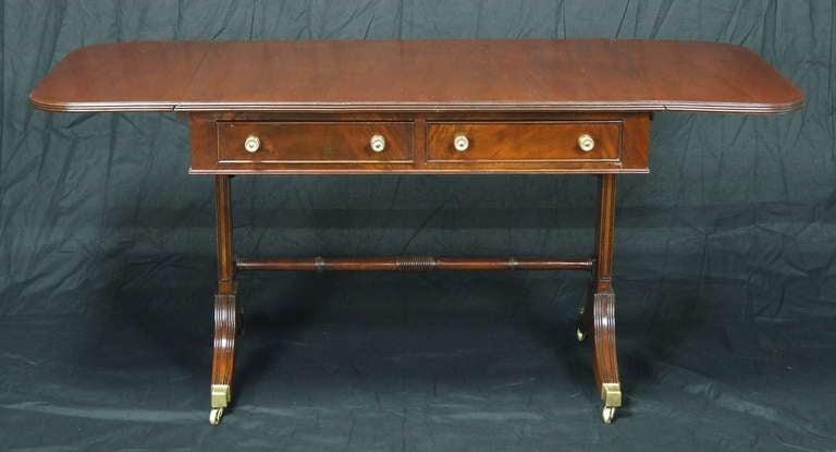 Regency Style Mahogany Sofa Table 5