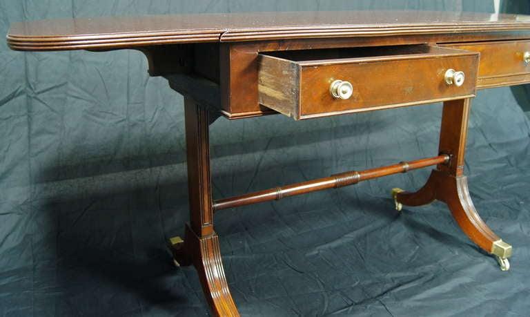 Regency Style Mahogany Sofa Table 6