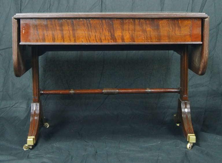 Regency Style Mahogany Sofa Table 8