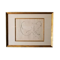 """""""Grotesque"""" Large Framed Etching by Leonard Baskin"""