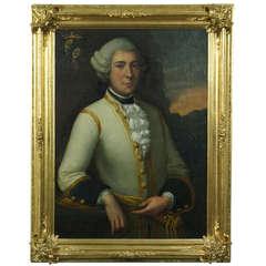 Large 18th Century Portrait of an Austrian Nobleman
