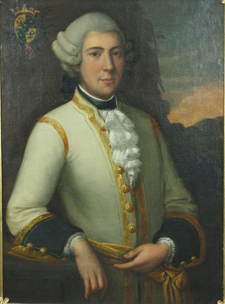 Large 18th Century Portrait Of An Austrian Nobleman At 1stdibs