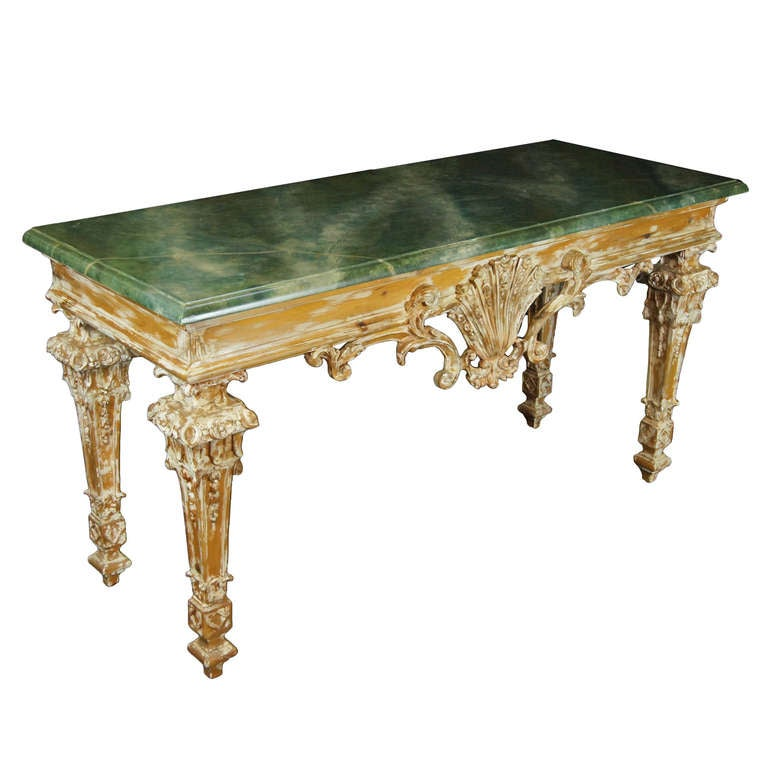 Pine baroque style console table at 1stdibs - Baroque console table ...