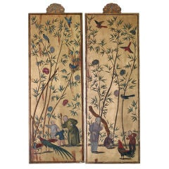 Pair of Chinoiserie Gilt Panels