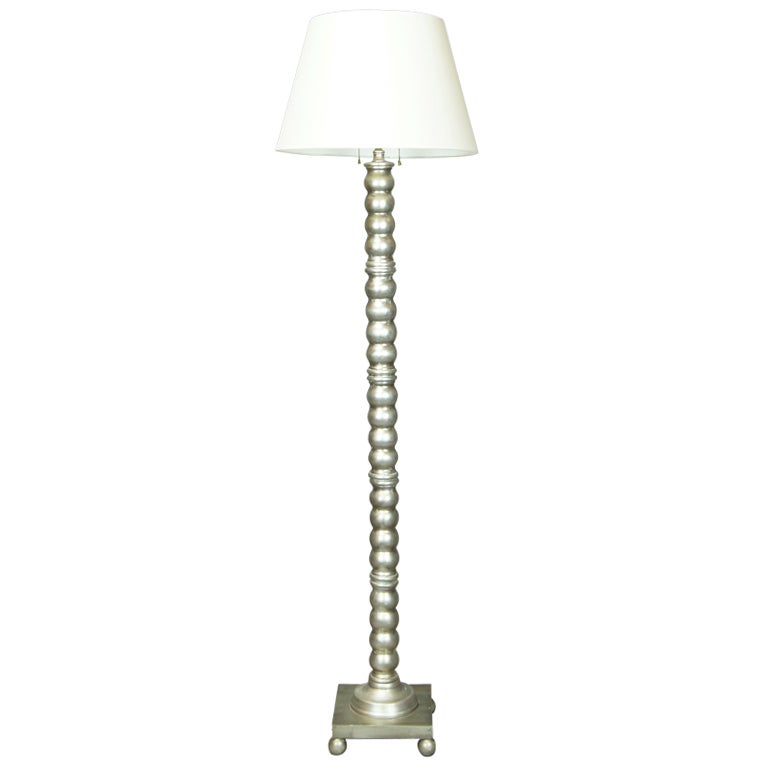 Silver leaf floor lamp at 1stdibs for Ornate silver floor lamp