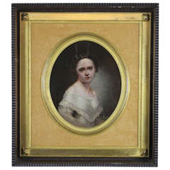 Small Portrait of a Lady in Shadowbox Frame