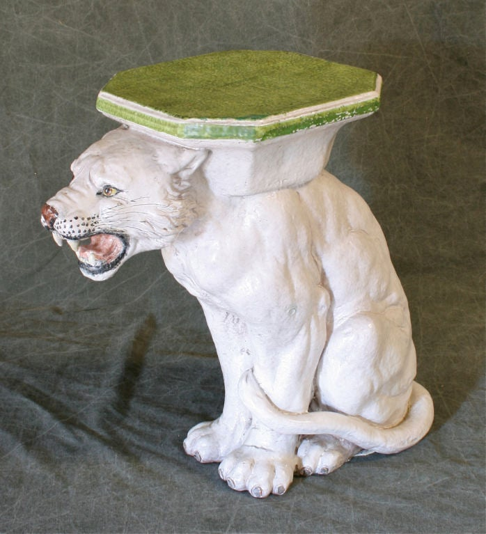 White Tiger Garden Seat Or Table At 1stdibs