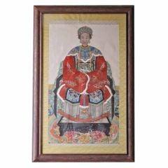 Large Framed Chinese Ancestral Portrait