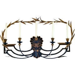 Italian Shell Five Light Candle Sconce