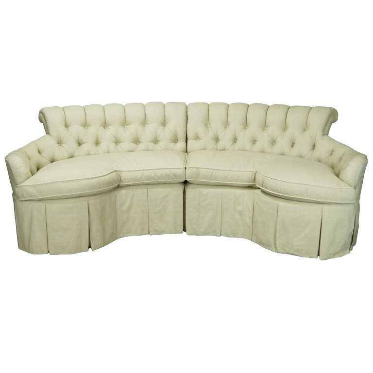Custom Made Buttoned Back Sofa At 1stdibs