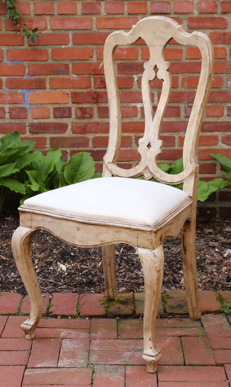 Set of twelve swedish baroque style dining chairs at 1stdibs for Baroque style dining chairs