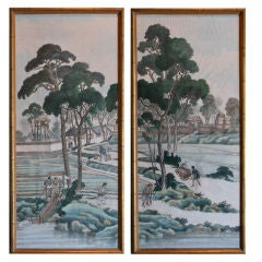 Pair of Chinese Paper Panels