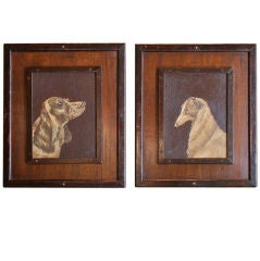 Pair of Dog Portraits