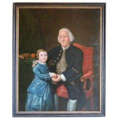 Large 18th Century Double Portrait
