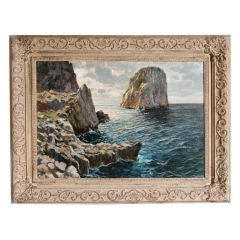 Oil Painting of Capri