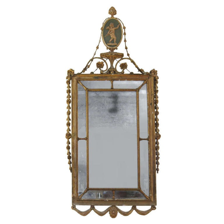 period adam style mirror at 1stdibs