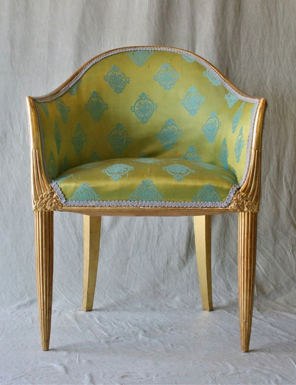 Pair of French Art Deco Armchairs by Paul Follot at 1stdibs