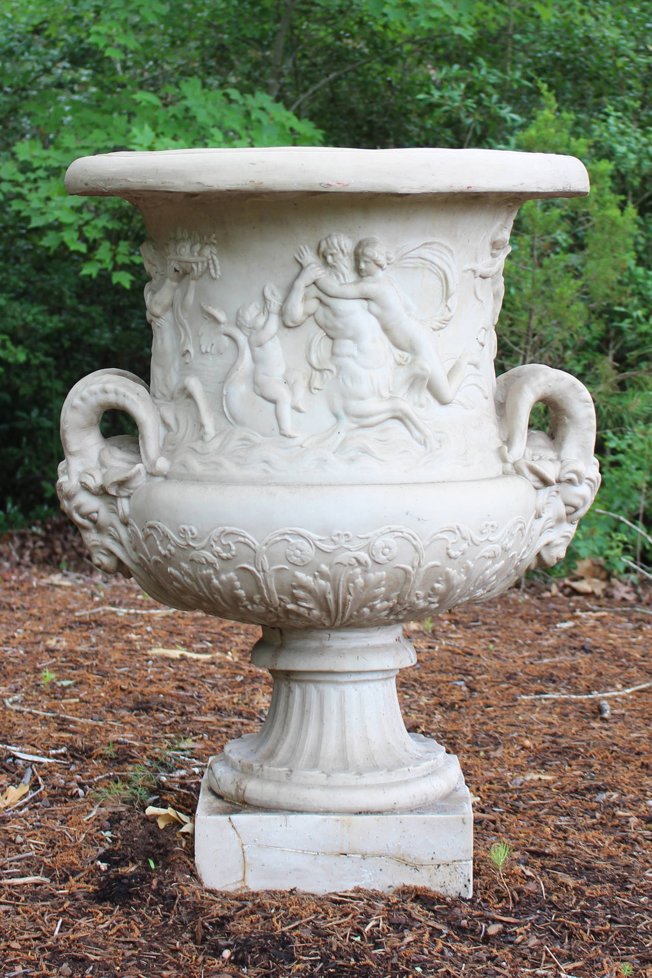 Pair Of Large Classical Style Resin Urns 2