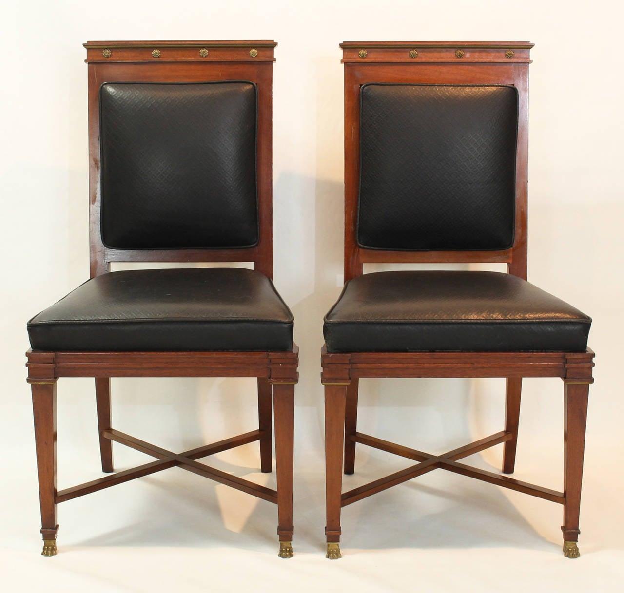 Set Of Eight Maison Jansen Dining Chairs At 1stdibs