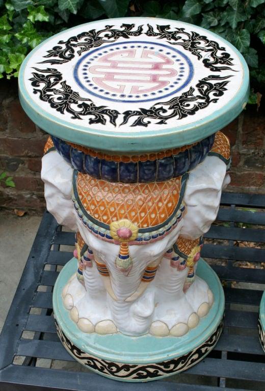 Near Pair of Elephant Garden Seats For Sale 2