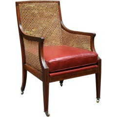 Regency Style Caned Library Chair