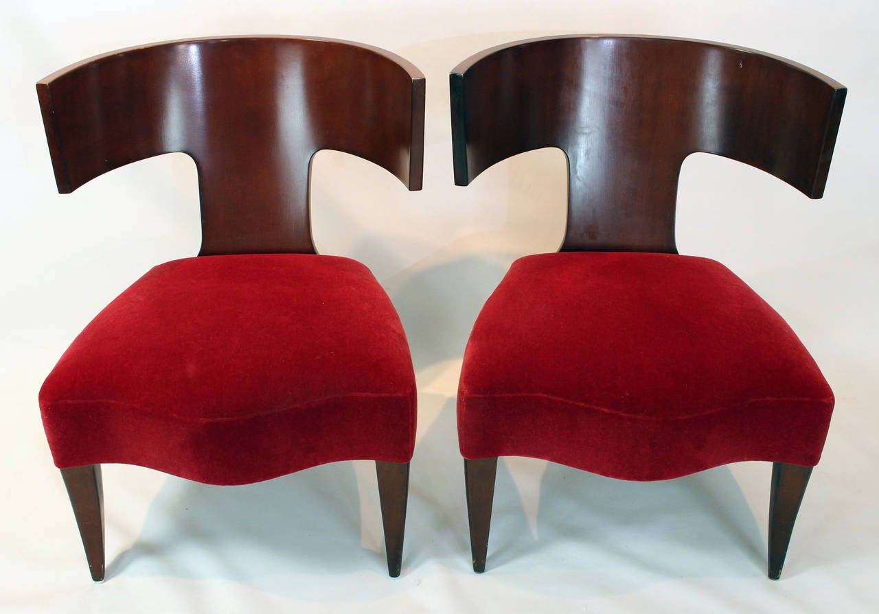 Baldwin Slipper Chair Pair Of Slipper Chairs By Angelo Donghia For Sale At 1stdibs
