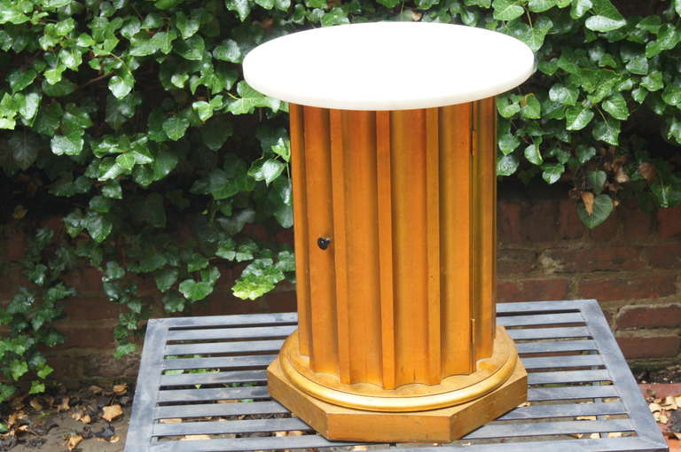 Classical Greek Column Side Table with Storage Compartment For Sale