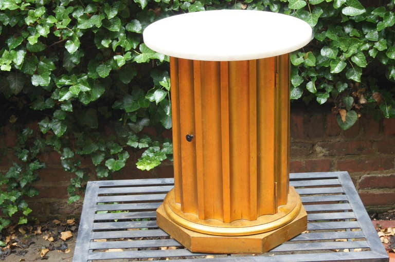 American Column Side Table with Storage Compartment For Sale