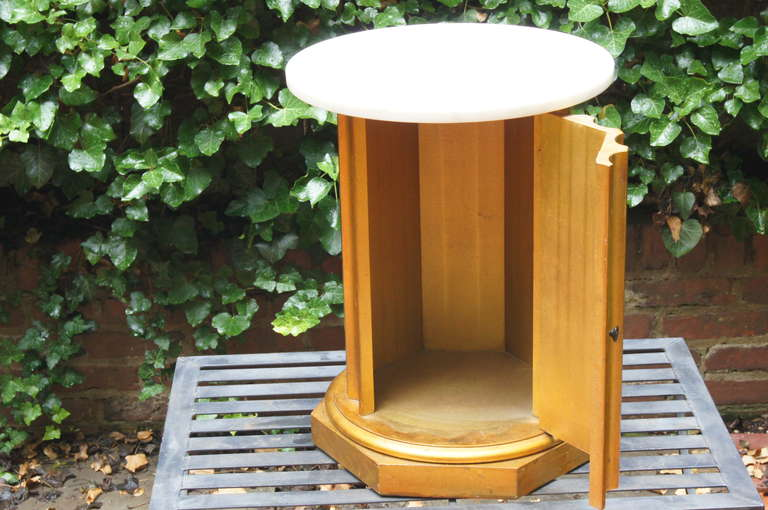 20th Century Column Side Table with Storage Compartment For Sale