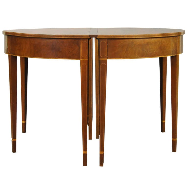 Federal Style D End Dining Table at 1stdibs : 847263l from 1stdibs.com size 768 x 768 jpeg 33kB