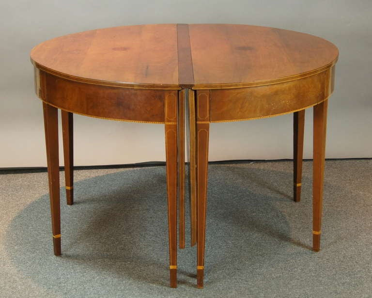 Federal Style D End Dining Table At 1stdibs