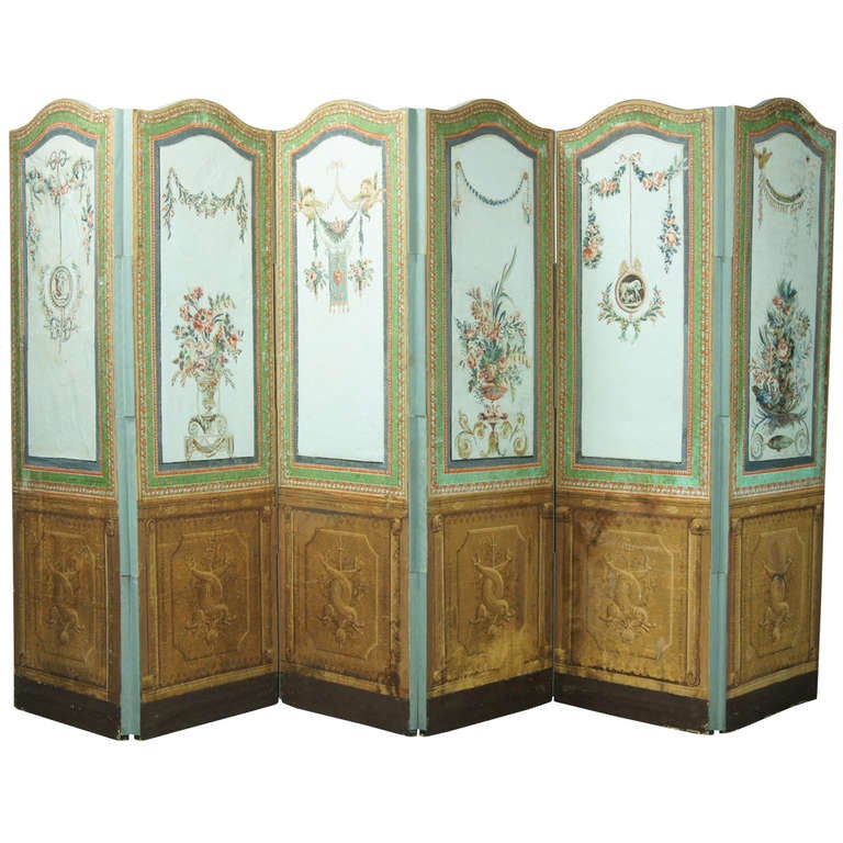 19th Century French Folding Screen For Sale at 1stdibs