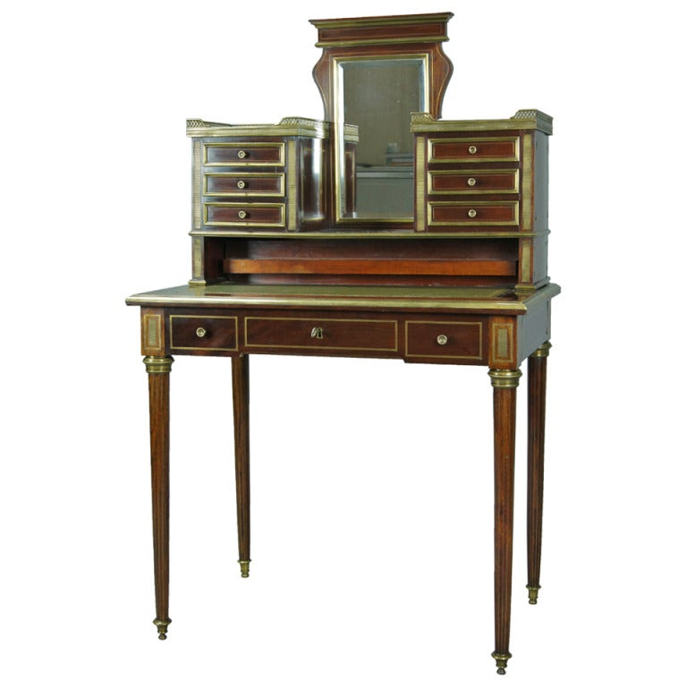 french louis xvi style bonheur du jour at 1stdibs. Black Bedroom Furniture Sets. Home Design Ideas