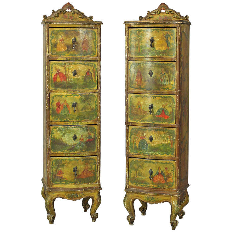 pair of venetian lingerie cabinets at 1stdibs. Black Bedroom Furniture Sets. Home Design Ideas